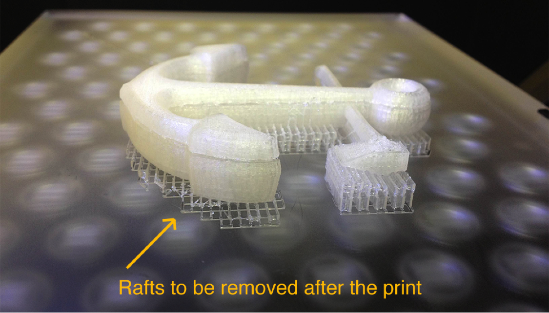 3D Printer raft supports