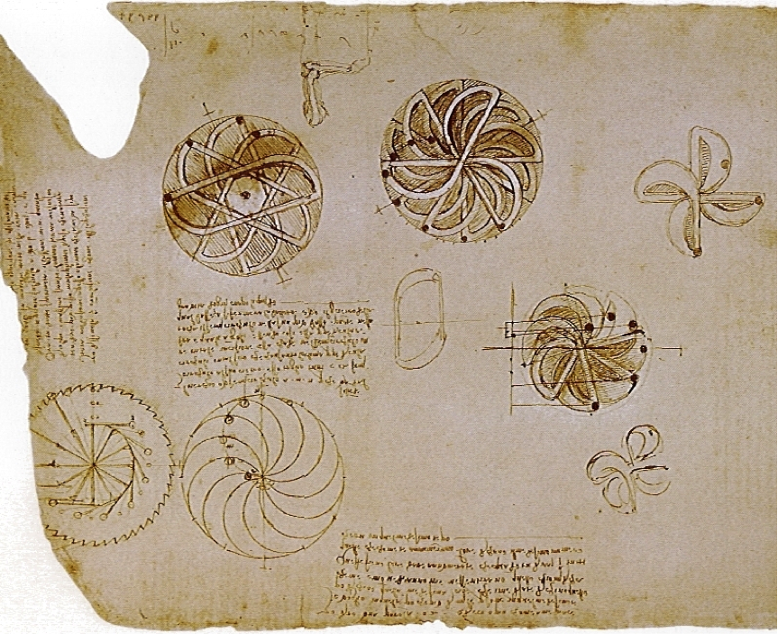 Motion Studies from Leonardo da Vinci's notebook