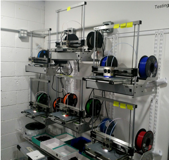 The Low Setup Cost Of Makeit Wall Mount Production Line Is Remarkable Compared With Regular Printer Placement Using Manufactured Shelves