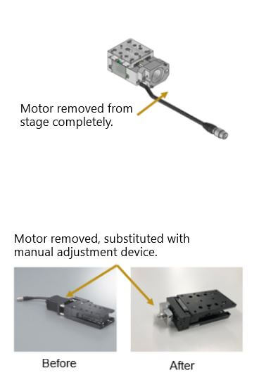 Manual Stage Motor Removal